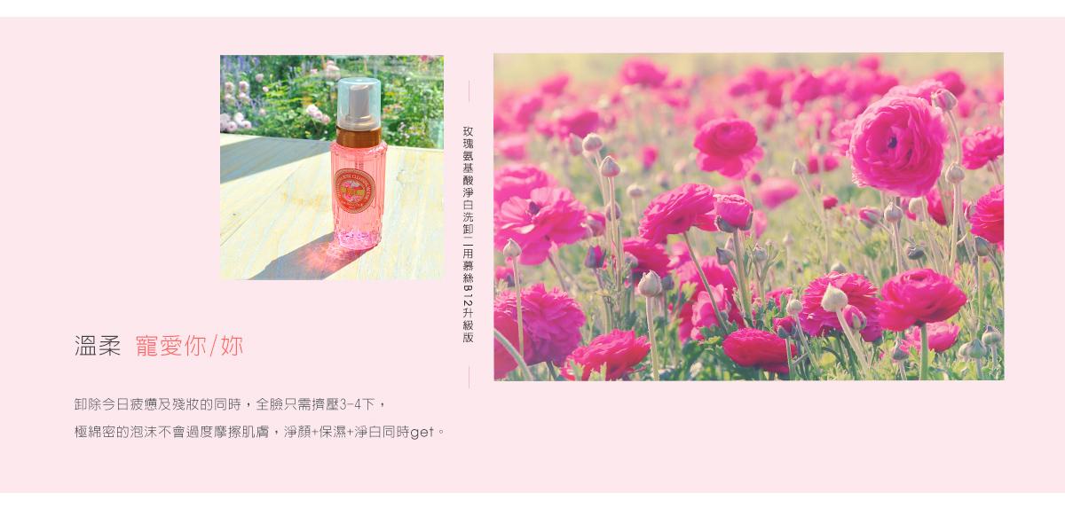 玫瑰氨基酸淨白洗卸二用慕絲B12升級版