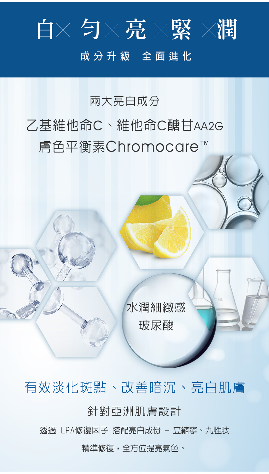 LPA亮白保濕全效系列 精華液 精華脂